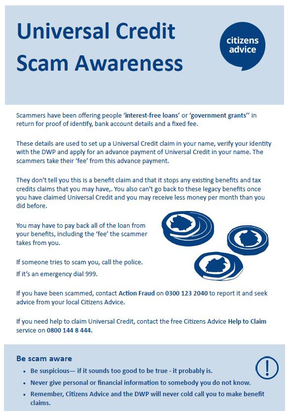 Universal Credit Scam Awareness – Citizens Advice St Helens
